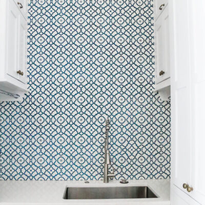 Blue Laundry Backsplash